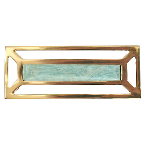 McCoy Pull, Brass/Amazonite