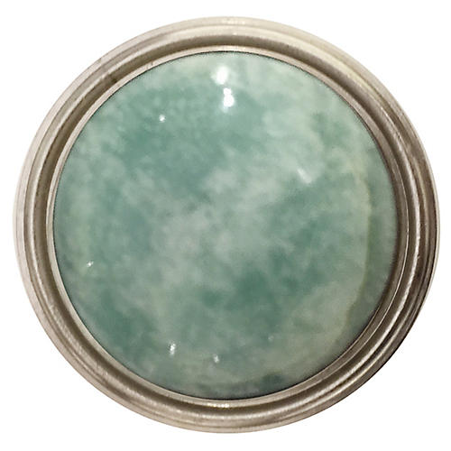 Lane Pull, Nickel/Amazonite