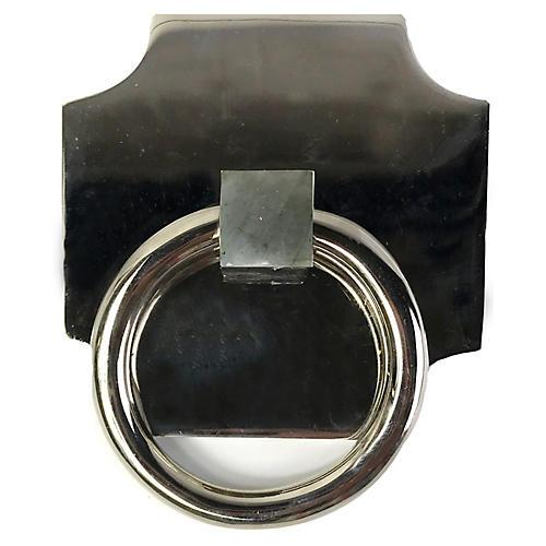 Porter Backplate Ring, Nickel/Labradorite