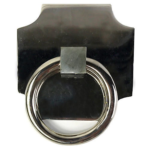 Porter Backplate Ring, Nickel/Labradorite