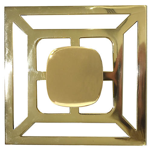 Benson Backplate Pull, Brass