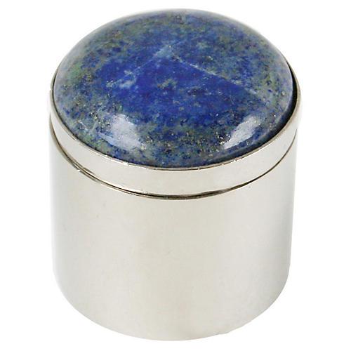 "2"" Ring Box, Silver/Blue"