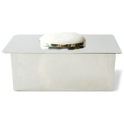 "6"" Wilgus Box, Silver/White"