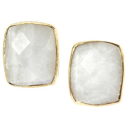Whitten Stud Earrings, Moonstone
