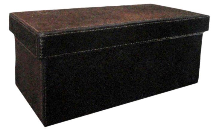 Hairon Desktop Box, Chocolate