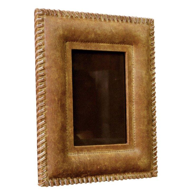 5x7 Patina Frame w/ Leather