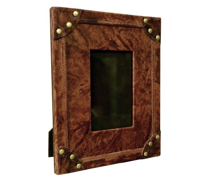 4x6 Leather Frame, Burnished