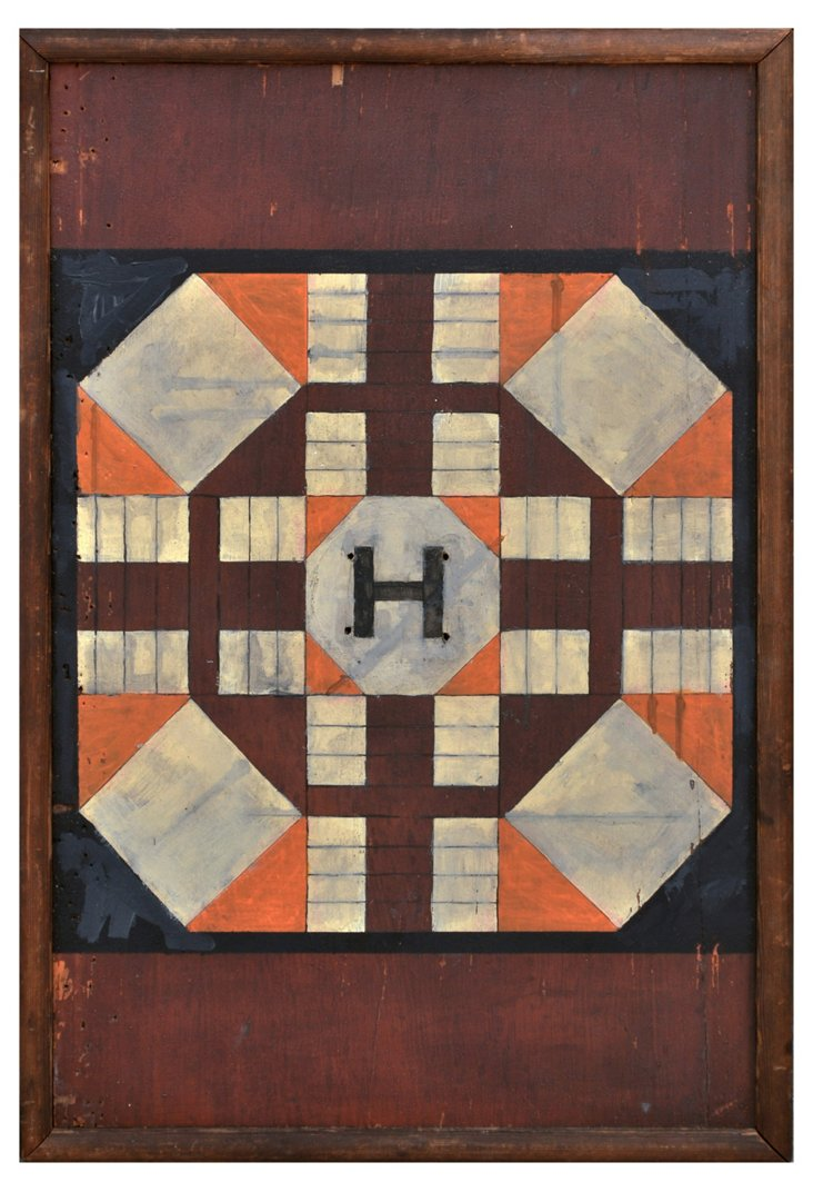 Parcheesi Board Sign, Multi