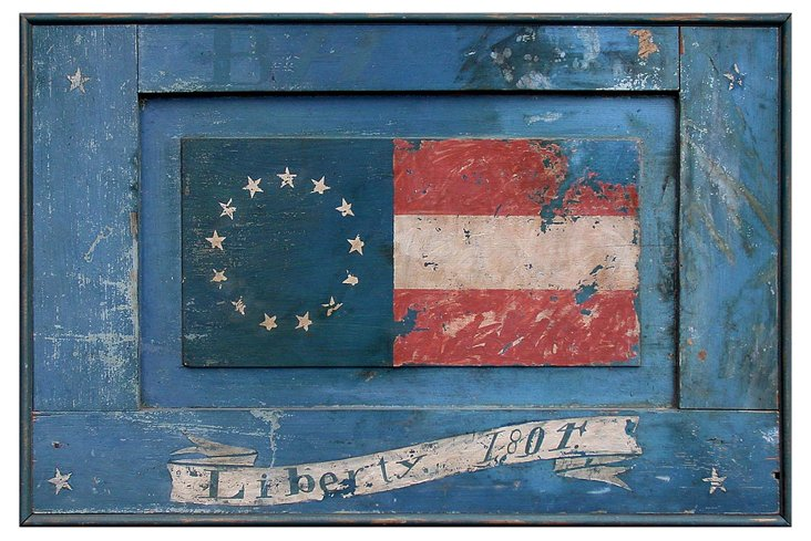 Betsy Ross Liberty Sign, Blue