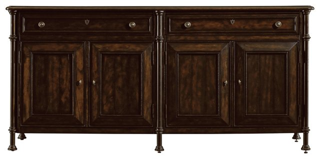"Campagne 77"" Sideboard, Chocolate"