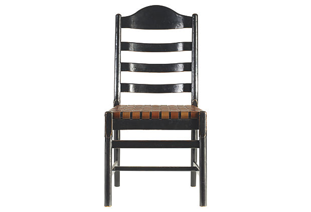 Ama Ladderback Side Chair, Ebony