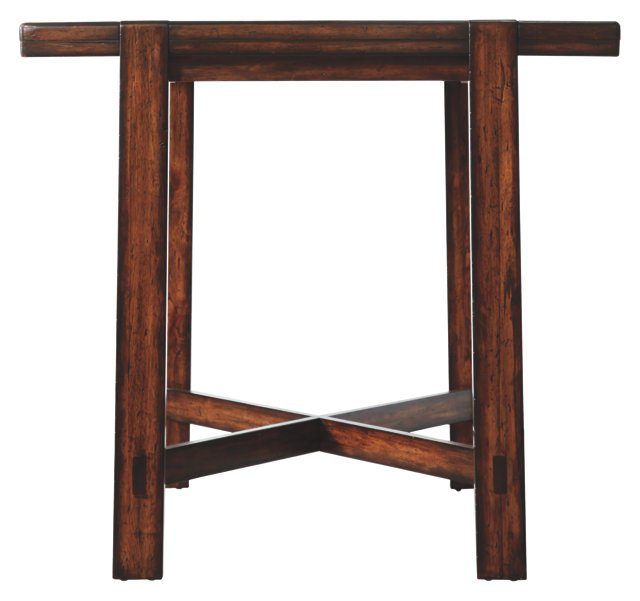"Modern Craftsman 47"" Pub Table, Tobacco"