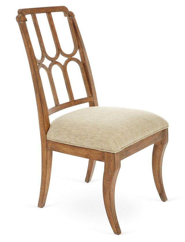 Port Royal Side Chair, Pecan/Cream