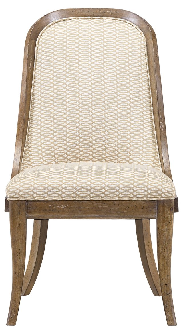 Bequia Trellis Host Chair, Cream