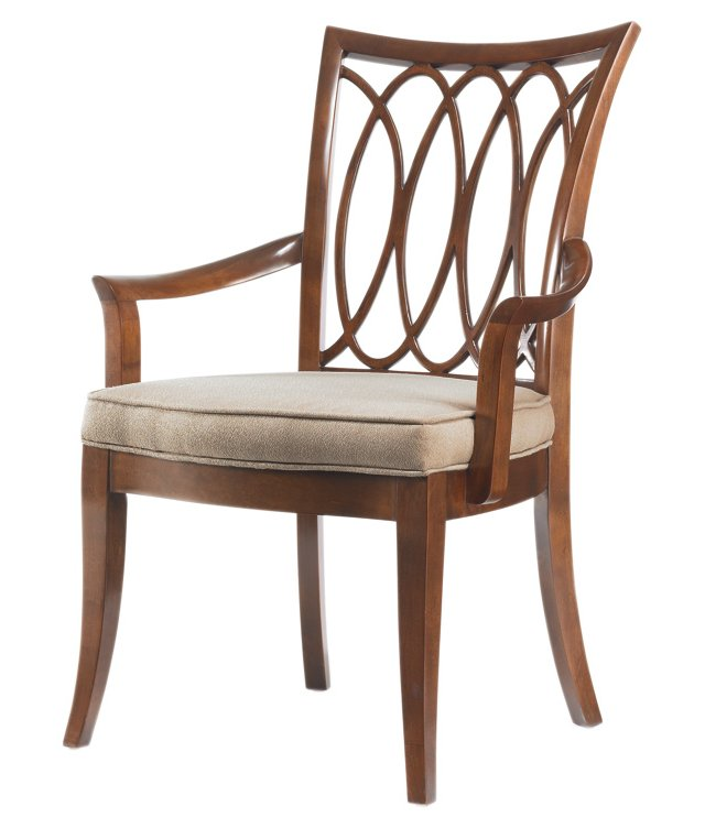Sherry Oval-Back Armchair, Pearl