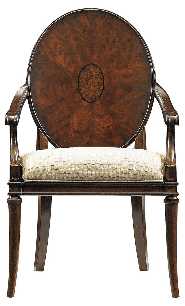 Oval Starburst Armchair, Cream/Gray