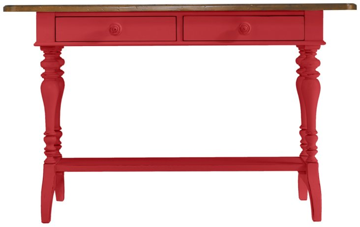 "Isabelle 54"" Console Table, Pink"