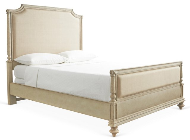 Oatmeal Palais Upholstered Bed