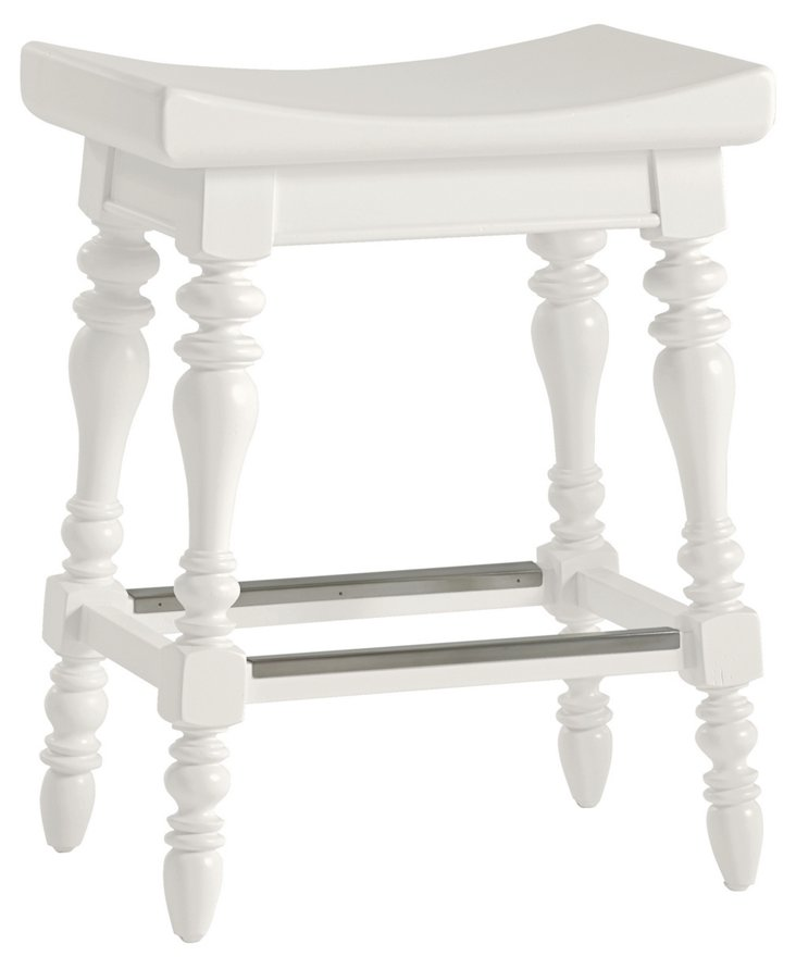 Coastal Retreat Counter Stool, White