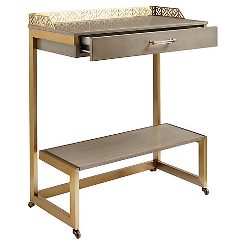 Catalina Bar Cart, Gray