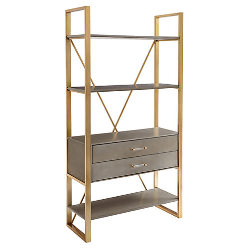"Harwell 69"" Bookcase, Gray"