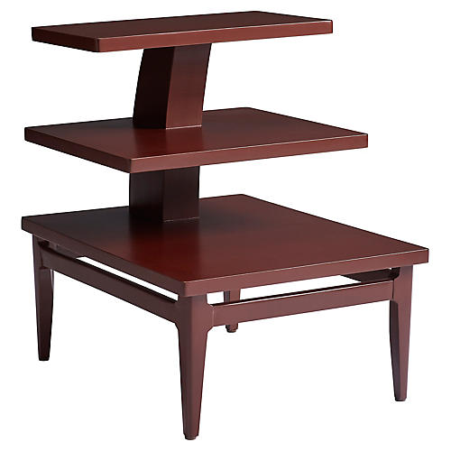 High Dive 3-Tier Side Table, Masonic Red