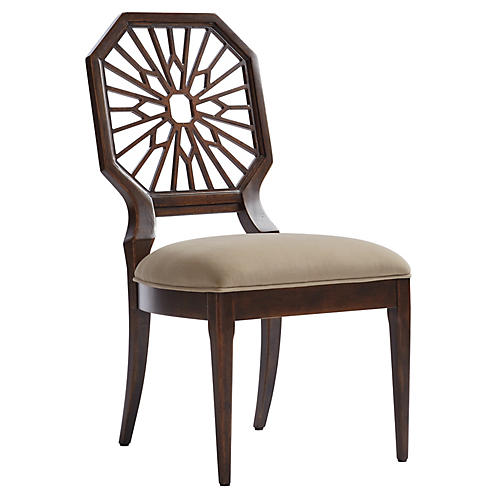 Lasa Side Chair, Verdado Gray/Mahogany