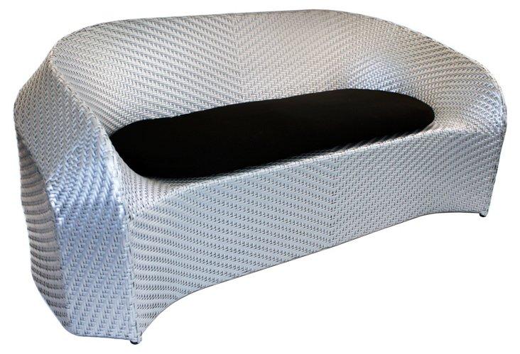 Sprawl Sofa w/ Black Cushion