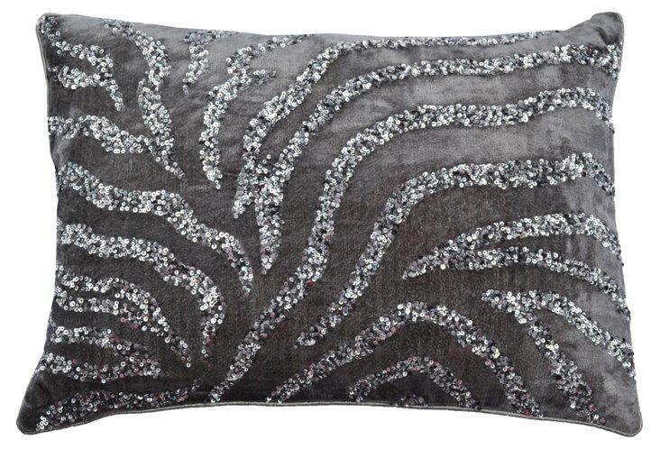 Adri 14x20 Cotton Pillow, Gray