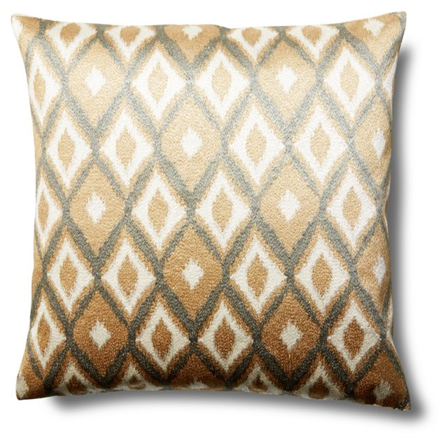Akin 20x20 Linen-Blend Pillow, Natural