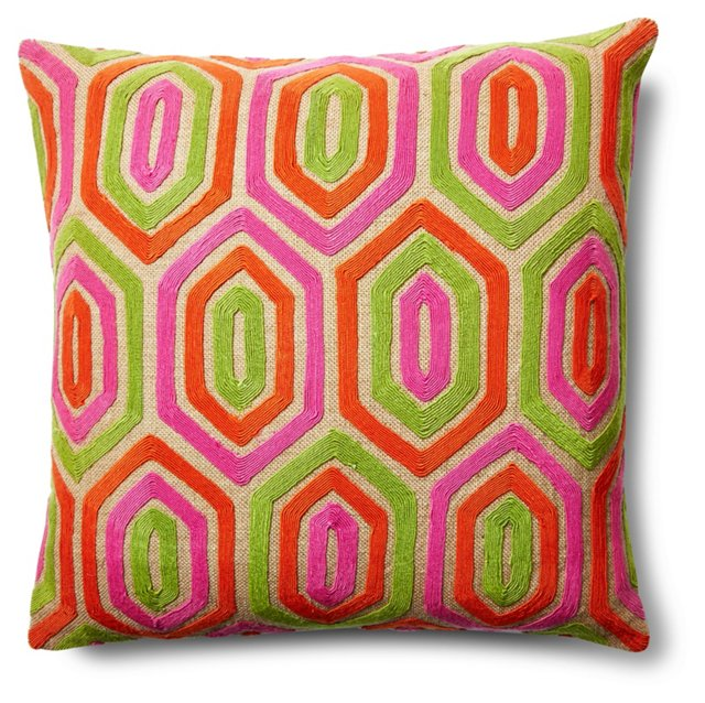 Rachel 20x20 Jute Pillow, Multi
