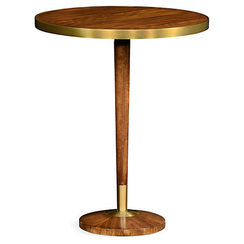 Finley Side Table, Natural/Gold