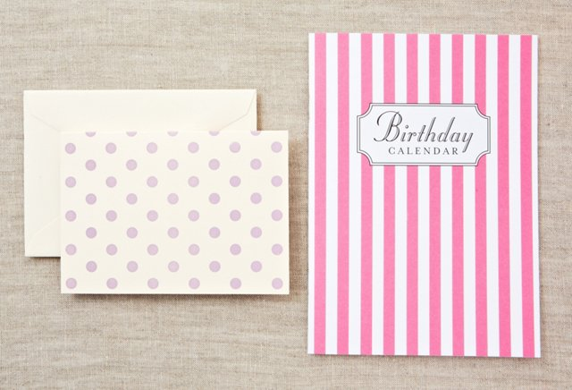 Pink Birthday Book & S/8 Lavender Notes