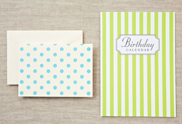 Lime Birthday Book & S/8 Aqua Notes