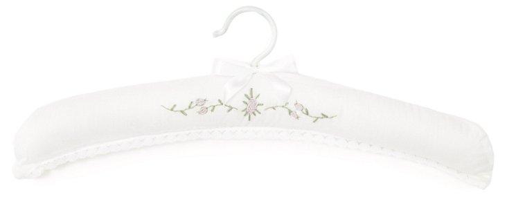 Rose Spray Hanger, White/Green