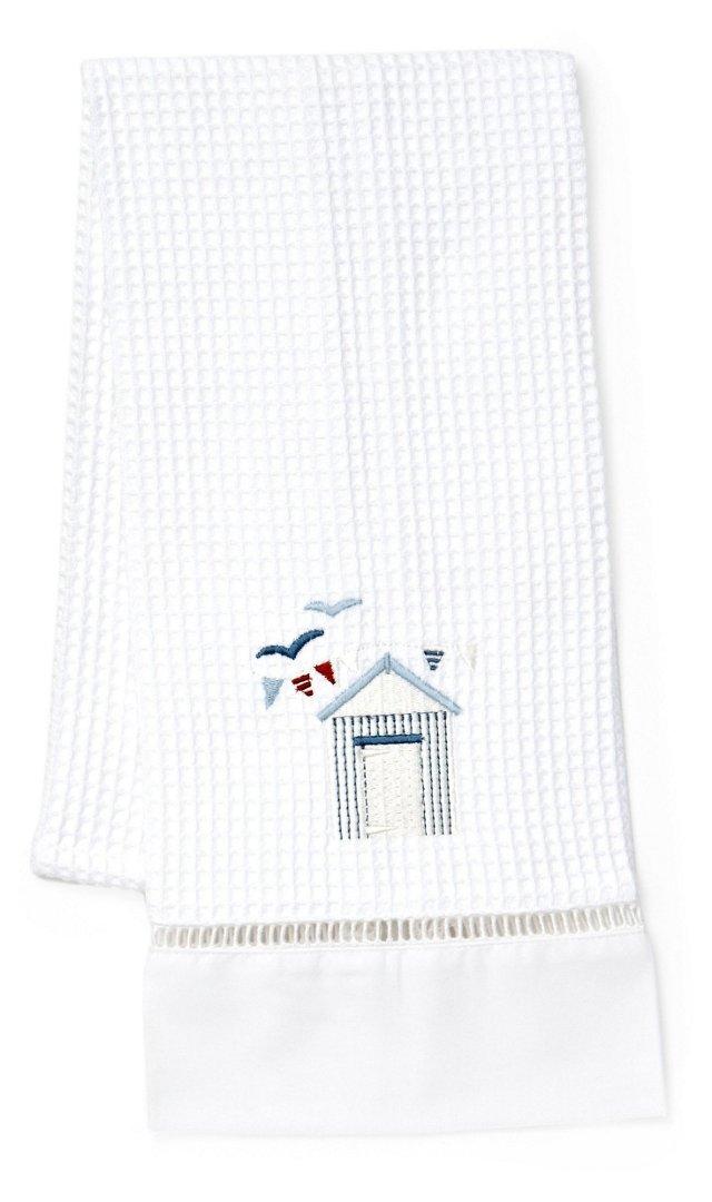 Beach House Waffle Weave Towel, Blue