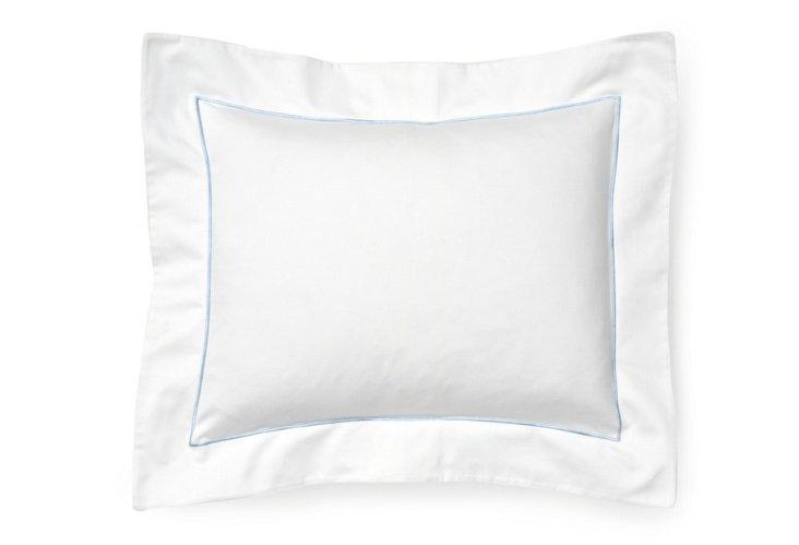 Satin Stitch Boudoir Pillow, Blue