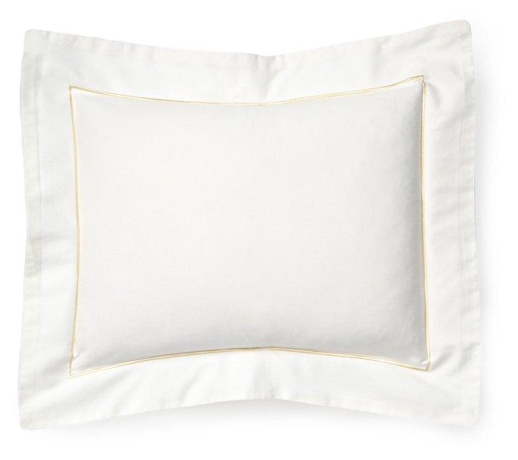 Satin Stitch Boudoir Pillow, Gold