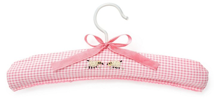 Counting Sheep Hanger, Pink Gingham