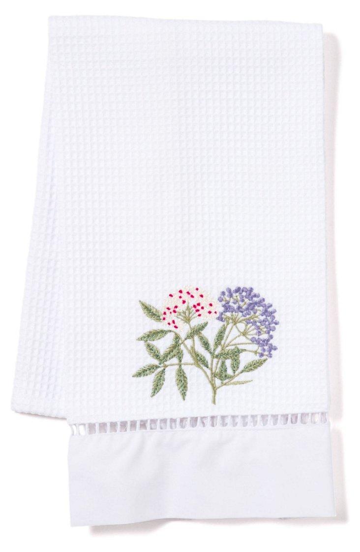 Elderberry Waffle Weave Towel, Green