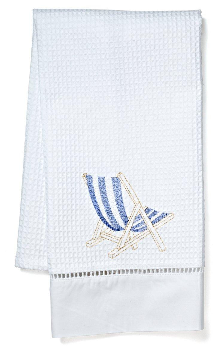 Deck Chair Guest Towel, Blue