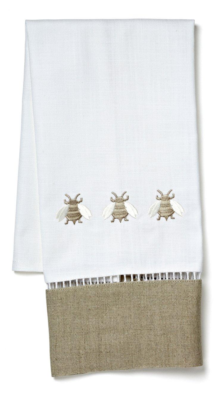 Napoleon Three Bees Guest Towel, Beige