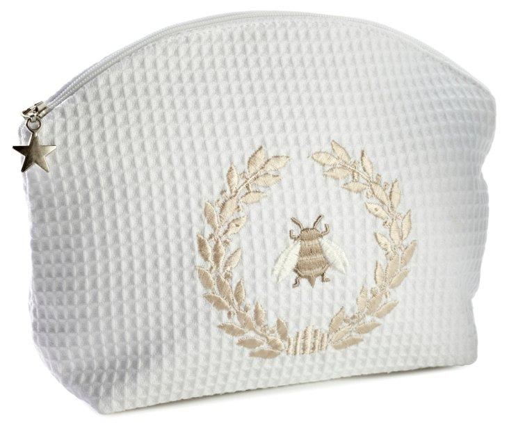 Napoleon Bee Wreath Cosmetic Bag, Beige