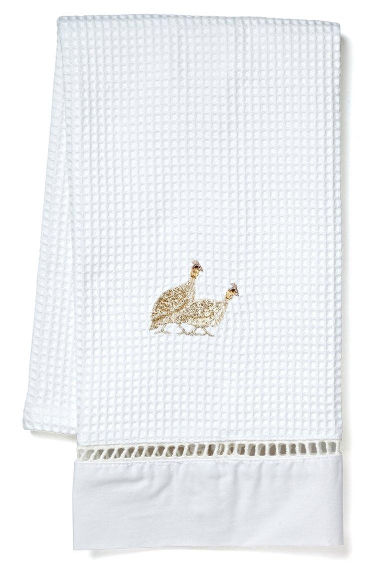 Partridge Waffle Weave Guest Towel, Tan