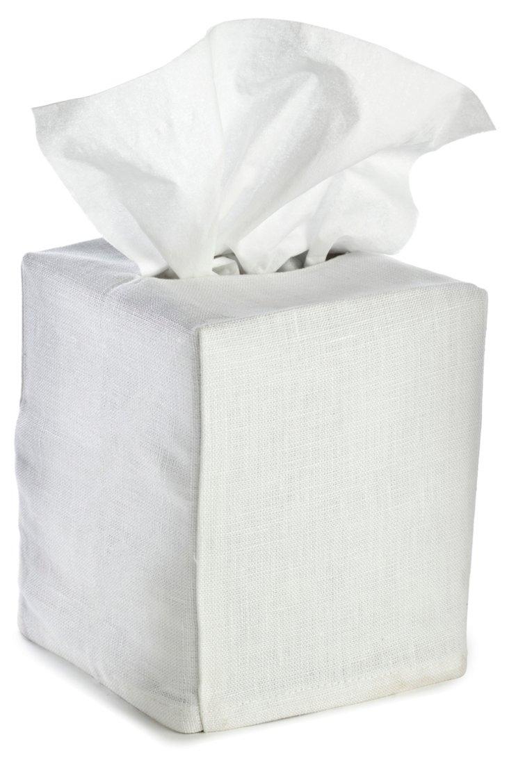 Tissue Box Cover, White