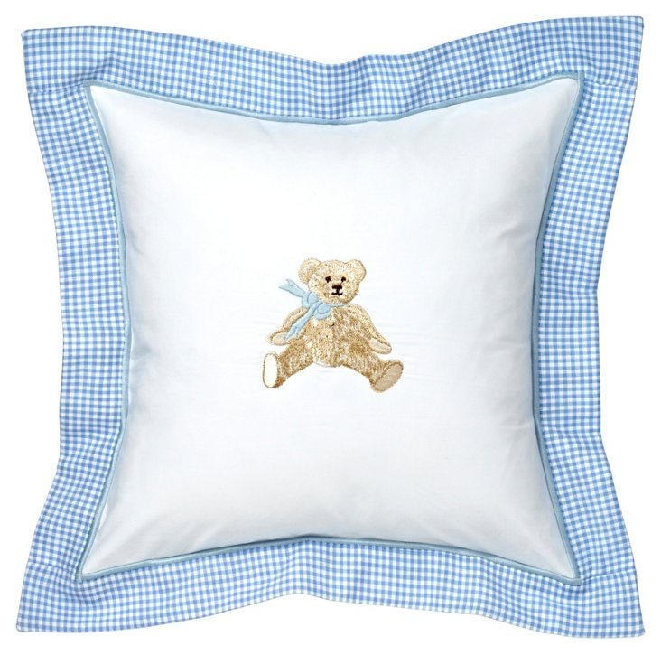 Baby Pillow Cover, Teddy Blue