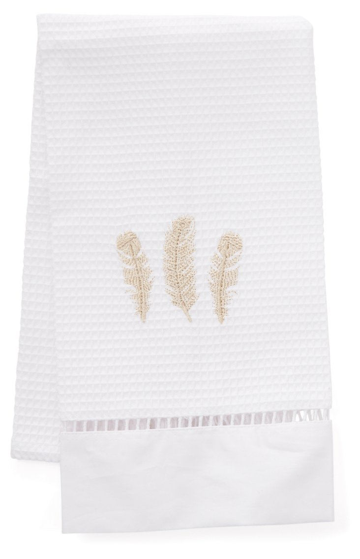 Feathers Guest Towel, Beige