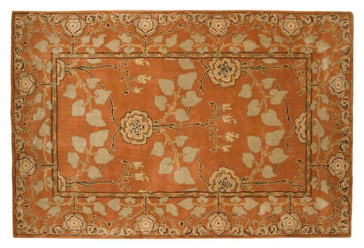 Anoush Rug, Orange/Beige