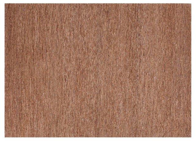 Pierce Flat-Weave Hemp Rug, Tan