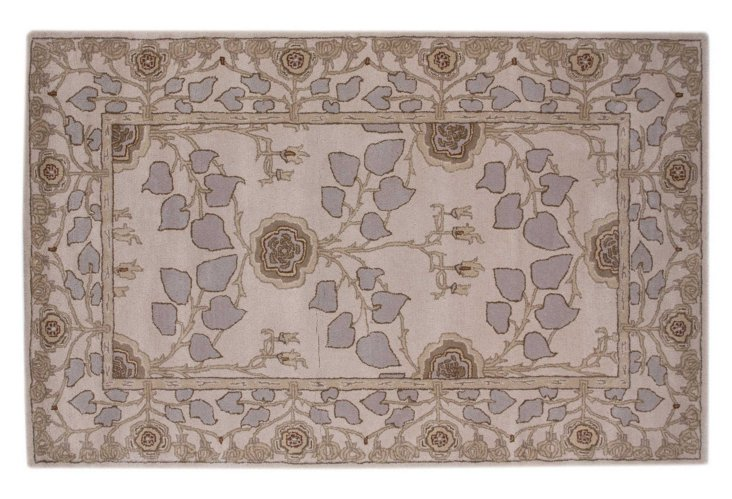 2'x3' Glennon Rug, Taupe/Lilac